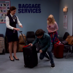 The airline found their luggage and Mrs. Wolowitz.