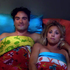 Penny and Leonard finally sleep together.