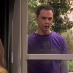 Sheldon in the window.