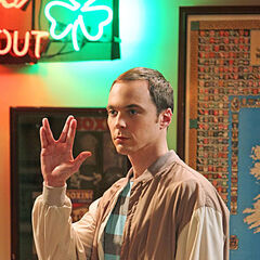 Sheldon leaving the bar after Amy rejected Zack.