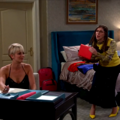 Amy takes Penny's laptop to get her to come with them.