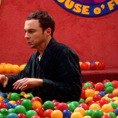 Sheldon in the ball pit