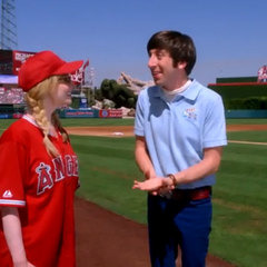 The Wolowitz's at the LA Angels game.