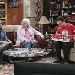 Sheldon's new train set from his Meemaw who doesn't like Amy.