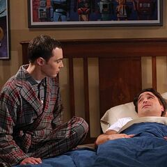 Sheldon is worried about Leonard's operation.