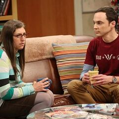 Amy and Sheldon discussing Penny.