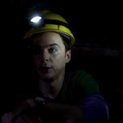 Sheldon in a simulated mine exercise.
