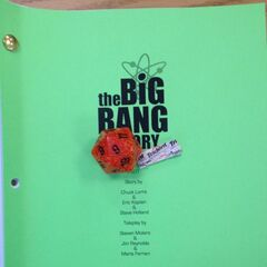 The front-page of the script of the episode, posted on Bill Prady's Twitter.