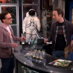 At the comic store before Sheldon's birthday.