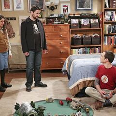 Wil trying to help Sheldon.