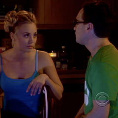 Penny telling why he can't be her roommate. She'd be all over him.