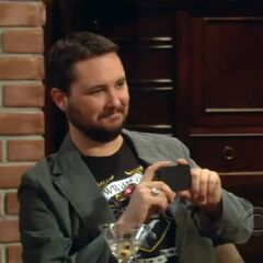 Wil Wheaton records Raj's speech.