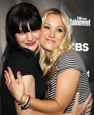 File:Kaley Cuoco with Pauley Perrette from NCIS.JPG