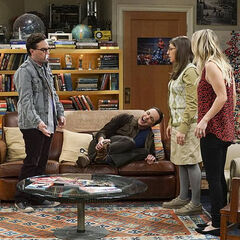 Sheldon dropped a rock on his foot.
