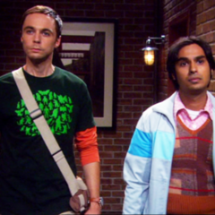 Raj taking Sheldon home.