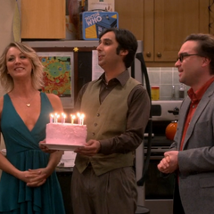 Sheldon's birthday cake.