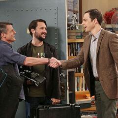 Sheldon meeting Leonard Nimoy's son Adam.
