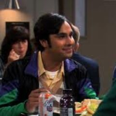 Raj in the cafeteria.