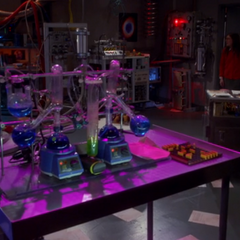 The mad scientist's lab in the escape room.
