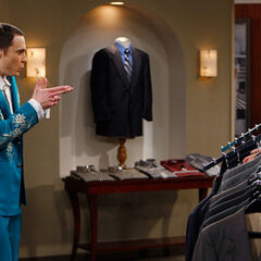 Sheldon likes this suit.