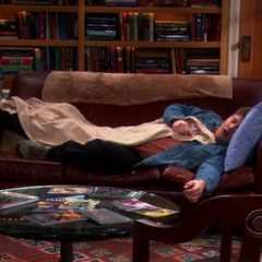 Jimmy crashing on the guys' couch.