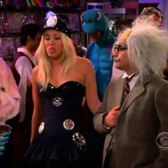 Sexy cop and Albert Einstein.