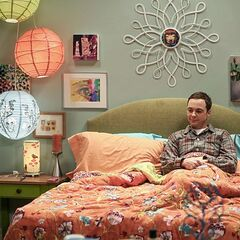 Sheldon waiting for Amy.