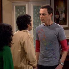 Sheldon vs. Rajesh.