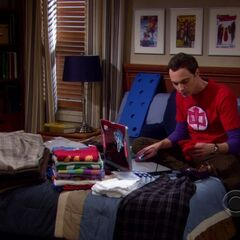 Sheldon tagging his clothing.