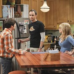 Sheldon shooting down Howard's explanation to his wife.