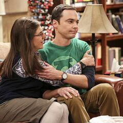 Amy happy that Sheldon said yes.