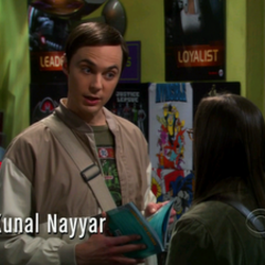 Sheldon telling Amy that playing harp is not cool either as she called comic books