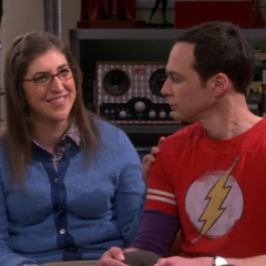 Hoping Sheldon will propose to her.