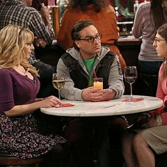 Penny blows off Leonard who then has dinner with Amy and Bernadette.