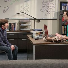 Howard trying to become better friends with Sheldon.