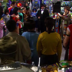 Comic book store New Year's Eve party.