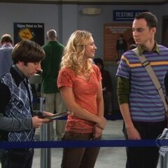 Sheldon in line to get his driving permit.