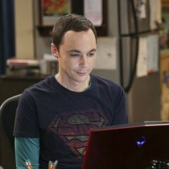 Sheldon communicating with Amy.