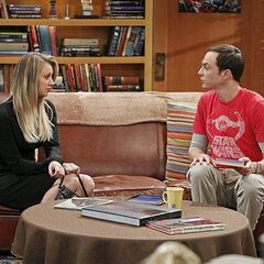 Penny trying to get Sheldon to go to Arthur's funeral.
