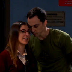 Sheldon whispering to Amy. She expects more than