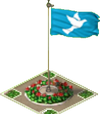 Peace Symbol Flag