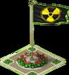 Radiation Sign Flag