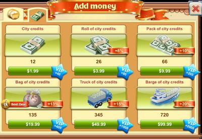 Buy City Credits