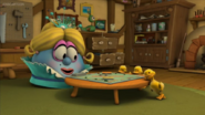 Blueberry and ducks are playing monopoly