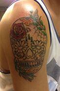Kendall skull tattoo 2