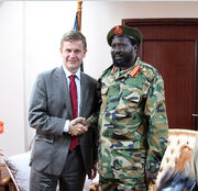 Salva Kiir and Erik Solheim-1, by Stein Ove Korneliussen