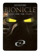 Bionicle Quest for the Masks TCG card cover