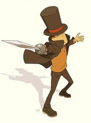 Anton vs Professor Layton by wredwrat