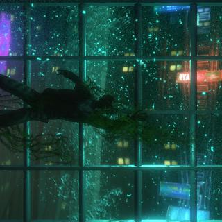 <i>Pencerenin dışında korkunç bir şekilde yüzen boğulmuş balıkçı cesedş.</i>