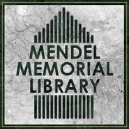 Mendel Memorial Library sign